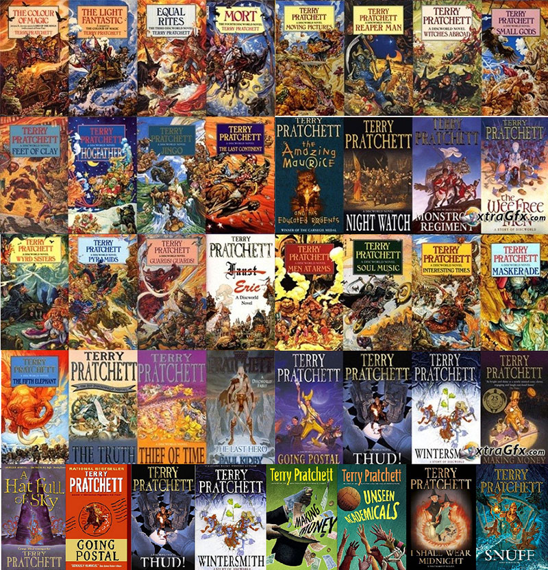 Terry Pratchett Book Covers